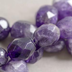 Бусина аметист неправильной формы, цвет фиолетовый, 15-...