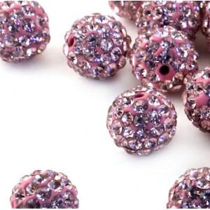 Бусина шамбала, розовый, 10 мм...