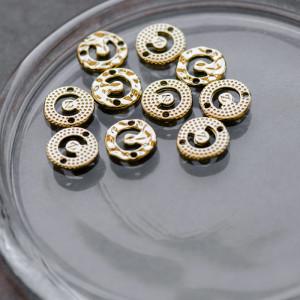 Коннектор, светлое золото, 11.5x2 мм...