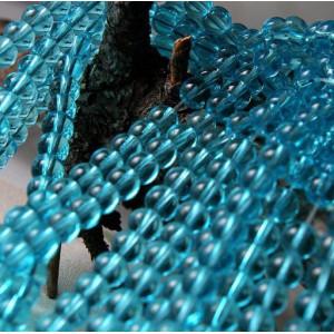 Бусина круглая стеклянная, голубой, 6 мм...