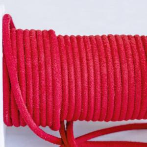 Шнур из искусственной замши, темно-красный, 3 мм...
