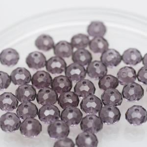 Бусина абакус стеклянная граненая, светло-фиолетовый, 8...