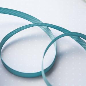 Репсовая лента, морской голубой, ширина 9,5 мм...