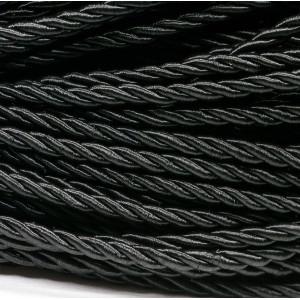 Витой полиэстеровый шнур, черный 3,5 мм...