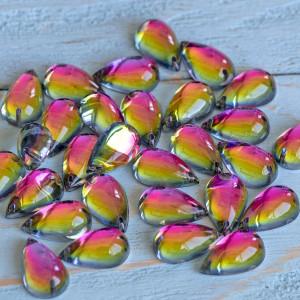 Стразы акриловые пришивные, разноцветные, 15х9х6...