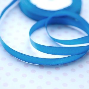 Атласная лента, насыщенный голубой, ширина 10 мм...