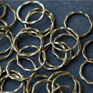 Коннектор, форма кольца, античная  бронза, 22x1.5 мм...