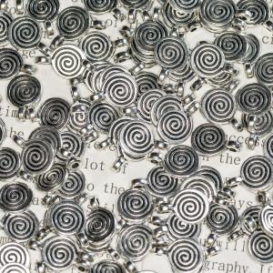 Подвеска металлическая, цвет - античное серебро, 8х1,8х...