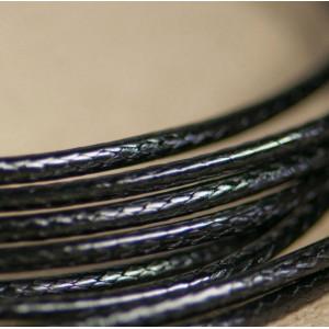 Шнур вощеный синт., черный, 2 мм...