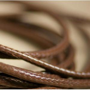 Шнур вощеный синт., темно-коричневый, 2 мм...
