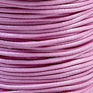 Шнур вощеный синт., розовый, 2 мм...
