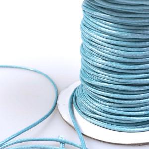 Шнур вощеный синт., светло-голубой, 2 мм...
