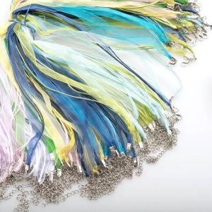 Заготовка для ожерелья, цветовой микс, 430х6 мм...