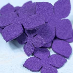 Вырубка из фетра 848 фиолетовый