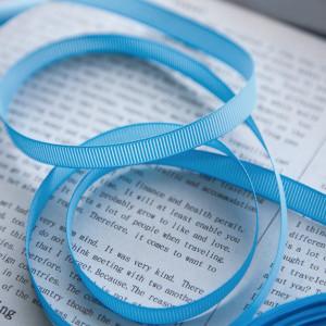 Репсовая лента, голубой, ширина 10 мм...