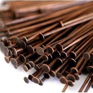 Пины-штифты-гвоздики, красная медь, 35х0.7 мм (210 шт)...