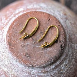 Швензы (основы для сережек), покрытие золотом, 24x3x2,5...