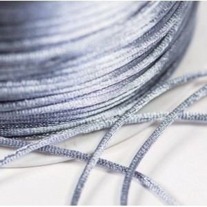 Атласный шнур для кумихимо, серый, 1 мм (4 м)...