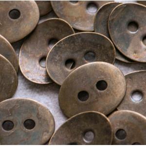 Застежка-пуговица, цвет античная бронза, 14х10 мм...