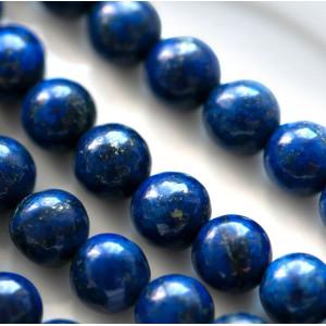Бусина лазурит 6, цвет синий, окрашен., 6 мм...