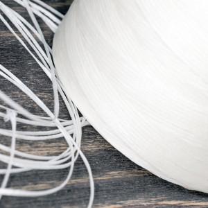 Плоский вощеный шнур синт., цвет молочный, 1х0,4 мм...