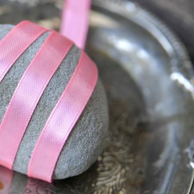 Лента атласная, цвет насыщенный розовый, 10 мм