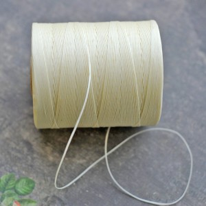 Шнур вощеный, цвет сливочный, 1х0.4 мм