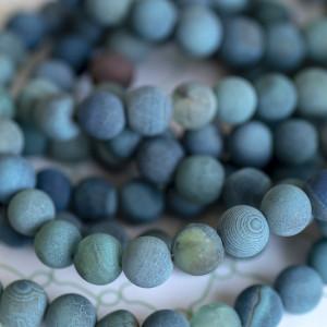 Бусины агата, цвет грязный голубой, окрашен., 8 мм...