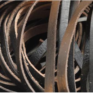 Кожаный шнур, плоский, черный, 10х2.5 мм...