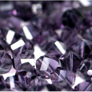 Бусина стеклянная граненая, фиолетовый, 8х8 мм...