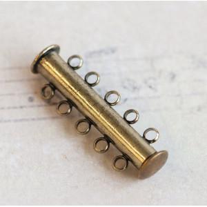 Застежка для украшений многорядная, цвет - бронза, 30х1...