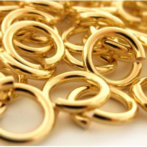 Колечко соединительное 6мм, цвет золото (180 шт)...