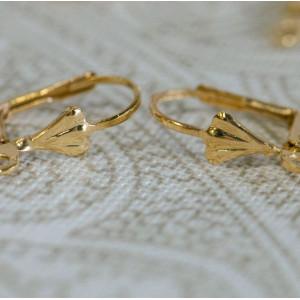 Швензы (основы для сережек), золото, 5.6x16.7x10.2 мм...
