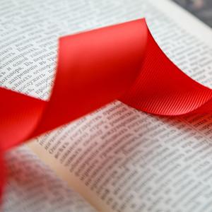 Репсовая лента, красный, ширина 50 мм...