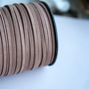 Шнур из искусственной замши, цв. какао, 5х1.5 мм...