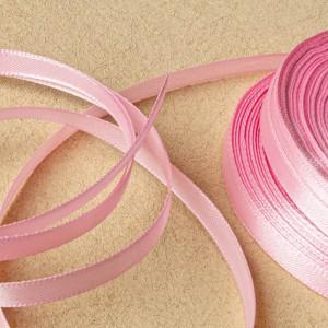 Атласная лента, розовый лосось, ширина 6 мм...