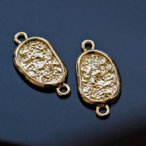 Коннектор под структуру камня, светлое золото, 25x12.5x...