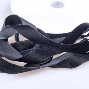 Бархатная лента, черный, ширина 25,4 мм...