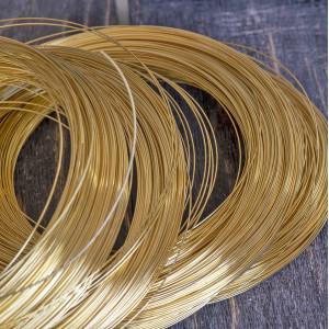 Проволока стальная для ожерелья, с памятью, цвет золото...