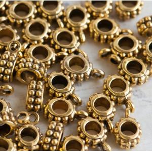 Бейл, античное золото, 13x8x5 мм...