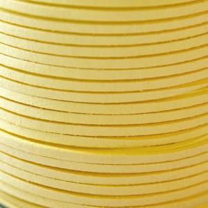 Шнур из искусственной замши, светло-желтый, 3х1,4 мм...