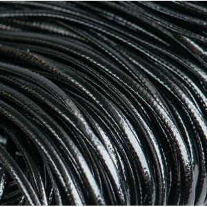 Шнур из искусственной кожи, плоский, черный, 2х1 мм...