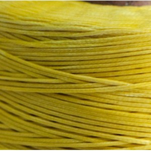 Плоский вощеный шнур синт., цвет ярко-желтый, 1х0,4 мм...