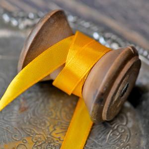 Атласная лента, желтый, ширина 10 мм...