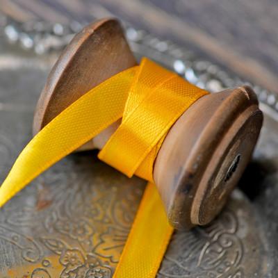Атласная лента, желтый, ширина 10 мм