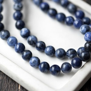 Бусина содалит 8, цвет синий, колорир., 8 мм...