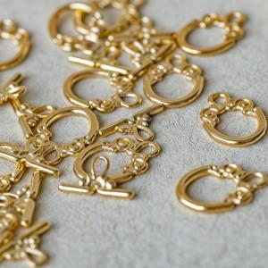 Застежка - тоггл,  золото, 20x14 мм...