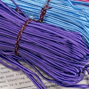 Сутаж №27, фиолетовый, 3х1 мм (уп 5 м)