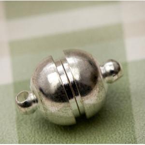 Застежка магнитная круглая, цвет серебро, 16х10 мм...