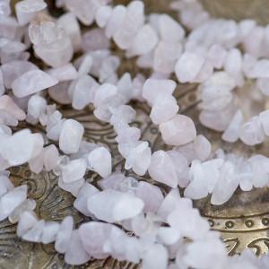 Бусина кварц осколки, цвет розовый (уп.20 г)...